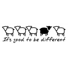 It's good to be different but then you already know that. This is one of our naughty Black Sheep stickers - why follow the crowd?