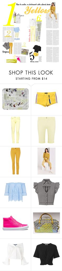 """""""How to ... make a statement: Yellow denim"""" by rhaxkido ❤ liked on Polyvore featuring Fornasetti, Juicy Couture, Great Plains, Dorothy Perkins, rag & bone, BDG, Marissa Webb, Vans, Louis Vuitton and Jacquemus"""