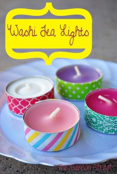 Washi Tea Lights