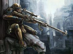 Troglodyte Sniper, Terry Maranda on ArtStation at https://www.artstation.com/artwork/troglodyte-sniper. #steampunk #victorian #gosstudio  . (Best Gifts online: http://www.zazzle.com/vintagestylestudio)