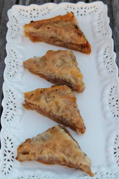 Sweet Potato and Nut Baklava,  This modern version of traditional baklava features mashed sweet potatoes among the layers of sugared nuts and flaky phyllo dough, making it a special and unique dessert that is sure to impress your guests.