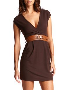brown dress but with a pretty ribbon belt?! @Brittany Horton Larson