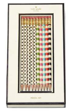 Free shipping and returns on kate spade new york pencils (set of 10) at Nordstrom.com. Add a hint of kate spade charm to your office or study with a collection of bright pencils that are sure to delight.
