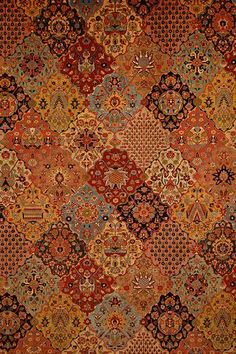 This is the type of carpet that seems very old, dating back to the times of the Victorian era. This carpet is a feature in a museum, so it would work for royalty interiors instead of lower case ones. Purple Carpet, Carpet Colors, Persian Carpet, Persian Rug, Art Chinois, Art Japonais, Iranian Art, Graphic Wallpaper, Magic Carpet
