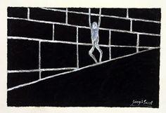 Asylum rights denied quartz sand, acrylic on fine shimmed paper, 1992, cm 54x72