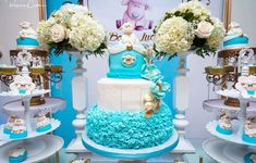The cake at this Little lamb baby shower is amazing!! See more party ideas and share yours at Catch My Party