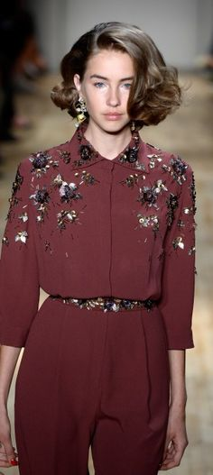 Jenny Packham, closer look at the beautiful detailing on the blouse