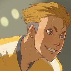 #terushima #art #haikyuu screen redraw by xafeelgood