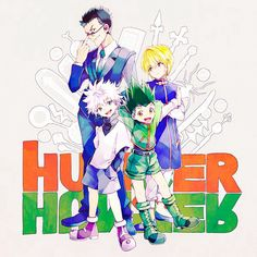 Leorio, Kurapika, Killua, and Gon ~Hunter X Hunter
