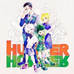 Leorio, Kurapika, Killua, and Gon ~Hunter X Hunter