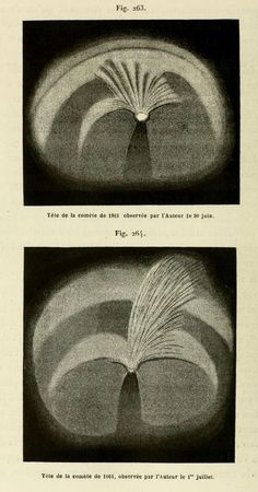 Figs. 263 & 264. Head of the comet of 1861 observed by the author on June 30th (above) and July 1st. _Le soleil, Vol II_ 1877