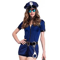 Colorful House Women's Officer Police Uniform Costume (Na...