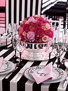 Little Inspirations: Black, White, and Pink Party