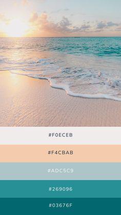 Ocean Color Palette, Ocean Colors, Colour Pallette, Colour Schemes, Colours, Beach Color, Color Inspiration, Graphic Design, Leica