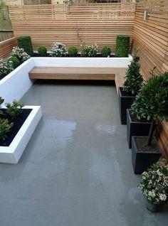 Minimalistic patio decor with straight lines