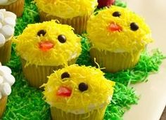 easter chick cupcakes party-on