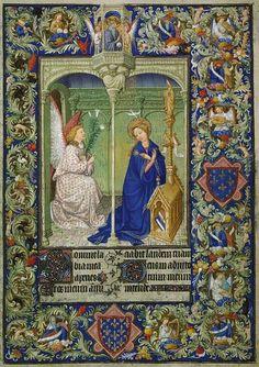 Annonciation, Belles Heures du duc de Berry, frères Limbourg, 1405-1408-09,