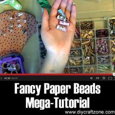 Fancy Paper Beads Mega-Tutorial ►► http://www.diycraftzone.com/fancy-paper-beads-mega-tutorial/?i=p