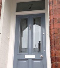 Our restored front door in Studio Green, farrow and ball | Deck and ...