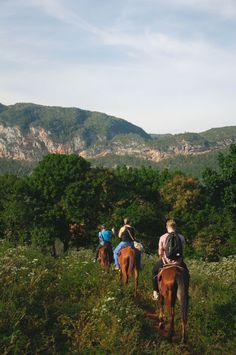 Horseback riding in Viñales, Cuba