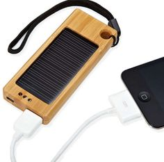Bamboo Solar Smartphone Chargers - The iSolar Charges Your Cellphone Anywhere You Go (GALLERY)