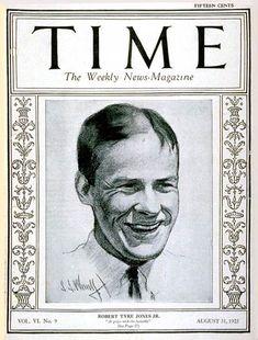 TIME Cover - Vol. 6 Nº 9: Bobby Jones   Aug. 31, 1925           http://en.wikipedia.org/wiki/Bobby_Jones_(golfer)