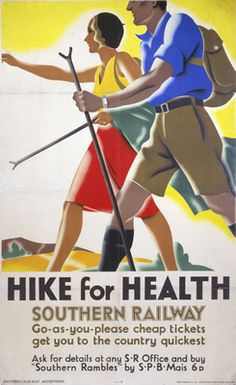 Hike for Health, c1930 poster by Southern Railway.