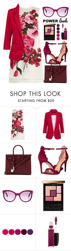 """#506 Commanding"" by mayblooms on Polyvore featuring Dolce&Gabbana, Yves Saint Laurent, Rachel Zoe, Chanel, Deborah Lippmann, MAC Cosmetics and MyPowerLook"