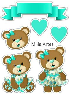 Baby Shower Clipart, Image 3d, Paper Quilling Designs, Bear Pictures, Lol Dolls, Paper Toys, Digital Stamps, Birthday Party Decorations, Card Making