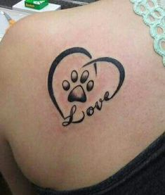 Probably would do Spot instead of Love. #cattattoo #DogTattooIdeas