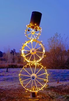 Lighted #Wheel snowman                                     #bikes