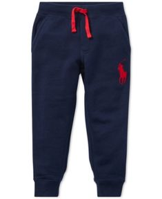 Polo Ralph Lauren Little Boys Fleece Pants - Navy 5 Toddler Outfits, Baby Boy Outfits, Luxury Baby Clothes, Tiny Cooking, Kids Fashion Boy, Kids Pants, Fleece Pants, Boys T Shirts, Leggings Are Not Pants