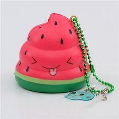 scented watermelon Mini Crazy Poo squishy by Puni Maru
