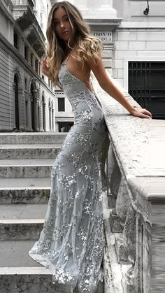 Backless Prom Dresses, Tulle Prom Dress, Sequin Dress, Sexy Dresses, Formal Dresses, Party Dress, Tulle Lace, Dress Lace, Grey Prom Dress