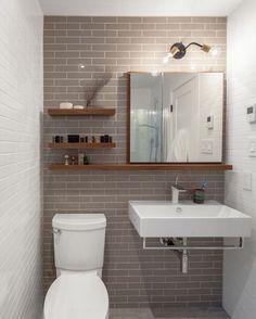 12. Открытые полки в маленьком санузле. Bathroom Design SmallIdeas ...