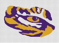 LSU+Tigers+(Chart/Graph+AND+Row-by-Row+Written+Crochet+Instructions)+–+01