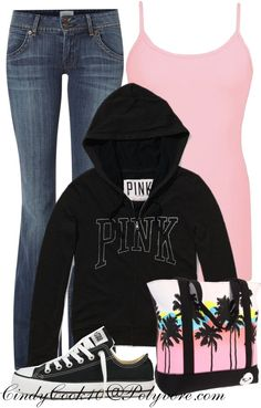 """VS Love Pink"" by cindycook10 ❤ liked on Polyvore"