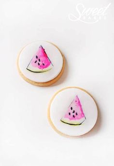 Illustrated Watermelon Cookies by Alisha Henderson @ Sweet Bakes  www.facebook.com/sweetbakess