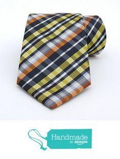 "Yellow, orange, white and black striped men's tie 8 cm (3,15"") DK-060 from Nazo… #handmadeatamazon #nazodesign"