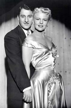 """Danny Thomas, Peggy Lee in """"The Jazz Singer"""" (1952). Director: Michael Curtiz."""