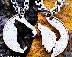 Bijoux de loups Howling Wolf collier emboîtement par NameCoins