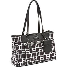 Nine West Handbags 9 On The Go Medium Tote Black Multi - Nine West Handbags Fabric Handbags