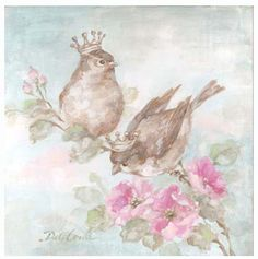French Crown Songbirds I -  Debi Coules Romantic Art