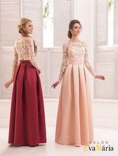 Prekrásne večerné šaty s čipkovanými rukávmi, 34 Cute Prom Dresses, Elegant Dresses, Girls Dresses, Flower Girl Dresses, Girls Frock Design, Trendy Outfits For Teens, Hijab Dress Party, Frocks For Girls, Princess Wedding Dresses