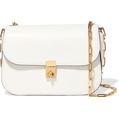 Valentino Leather shoulder bag (25.935.145 IDR) ❤ liked on Polyvore featuring bags, handbags, shoulder bags, bolsas, clutches, purses, white, handbags shoulder bags, hand bags and purse shoulder bag