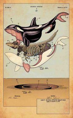 Asombrosas ilustraciones que llevan la imaginación más allá de sus límites, descomponiendo cuerpos y objetos habituales en breves fragmentos