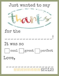 Toad's Treasures: THANKS Printables for the Kiddos