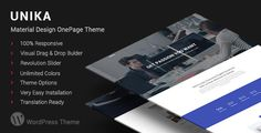 Unika   Responsive Material Design WordPress Theme