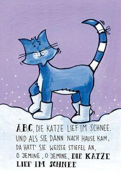 Weihnachtskarten - *Kinder*Karten 4 Stück *Weihnachten* Winterlieder - ein Designerstück von Familie-kleiner-Tiere bei DaWanda; Seasonal Greeting Cards for Kids