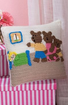Craft Passions: Goldilocks and the Three Bears Pillow..# free # cr...
